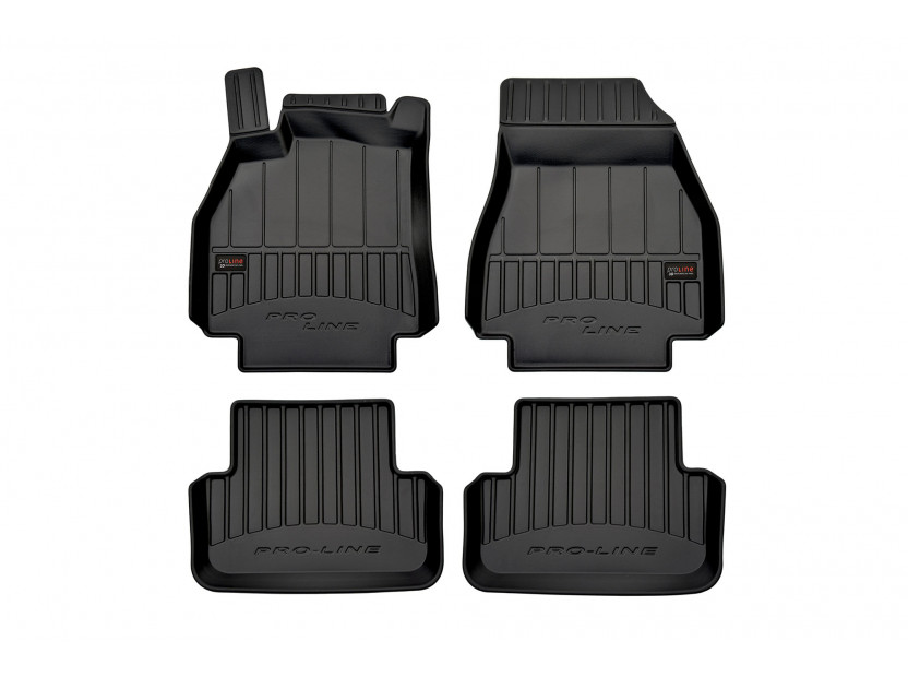 3D гумени стелки Frogum за Renault Megane 2002-2008, 4 части, черни