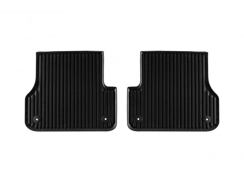 Задни гумени стелки за Audi A6 Седан/Avant/Allroad след 2012 година, A7 Sportback след 2010 година, 2 части, черни