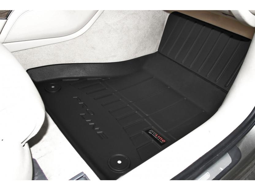 3D гумени стелки Frogum за Audi A6 2011-2017, 4 части, черни 3