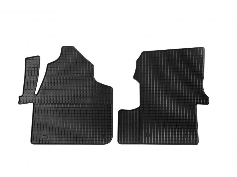 Гумени стелки Petex за VW Crafter 05/2006 => предни 2 части черни
