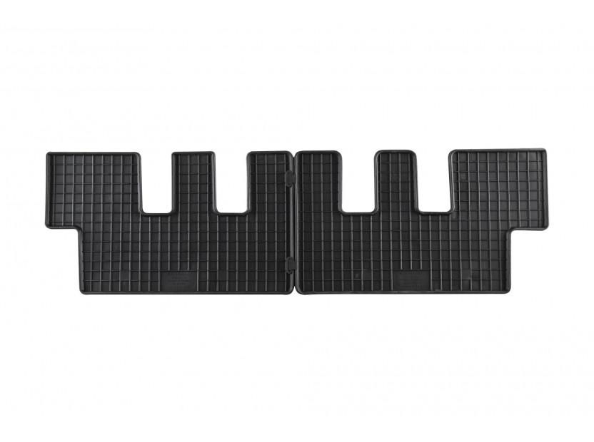 Гумени стелки Petex за Citroen C4 Picasso 7 места 2006-2013 за втори ред седалки 2 части черни