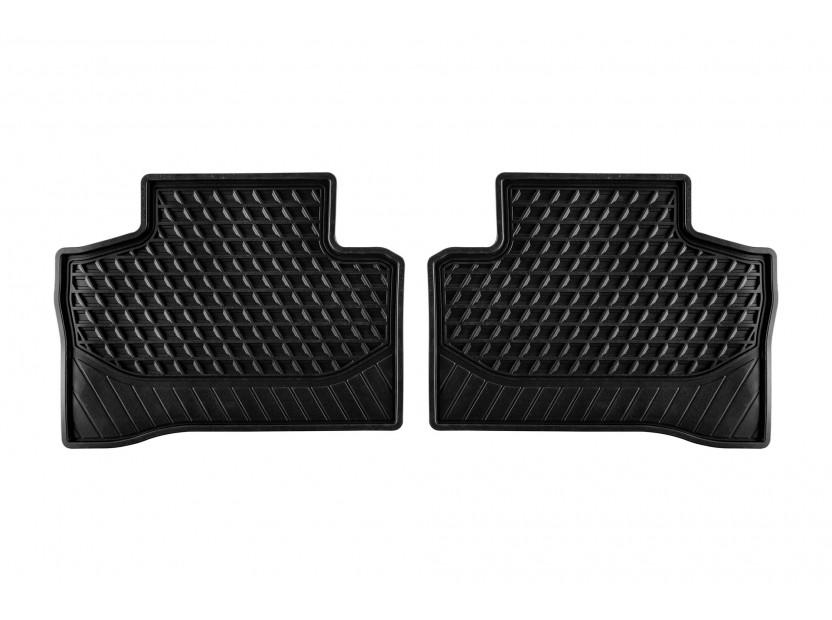 Гумени стелки за Mercedes GLC X253/GLC Coupe C253 след 2015 година задни 2 части черни