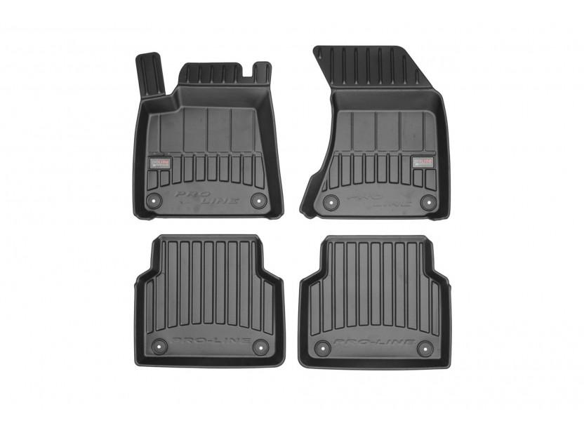 3D гумени стелки Frogum за Audi A8 D4 2009-2017, 4 части, черни