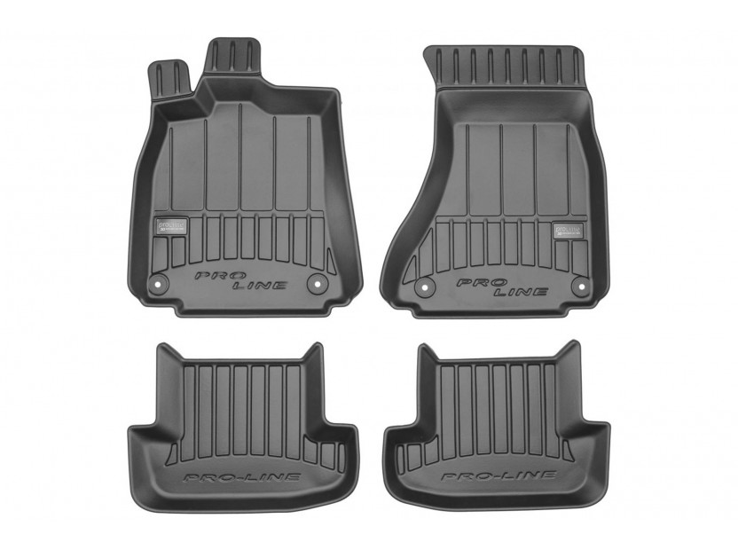 3D гумени стелки Frogum за Audi A5 I (8T) Coupe 2007-2016, 4 части, черни