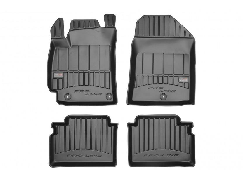 3D гумени стелки Frogum за Hyundai Elantra V 2010-2016, 4 части, черни