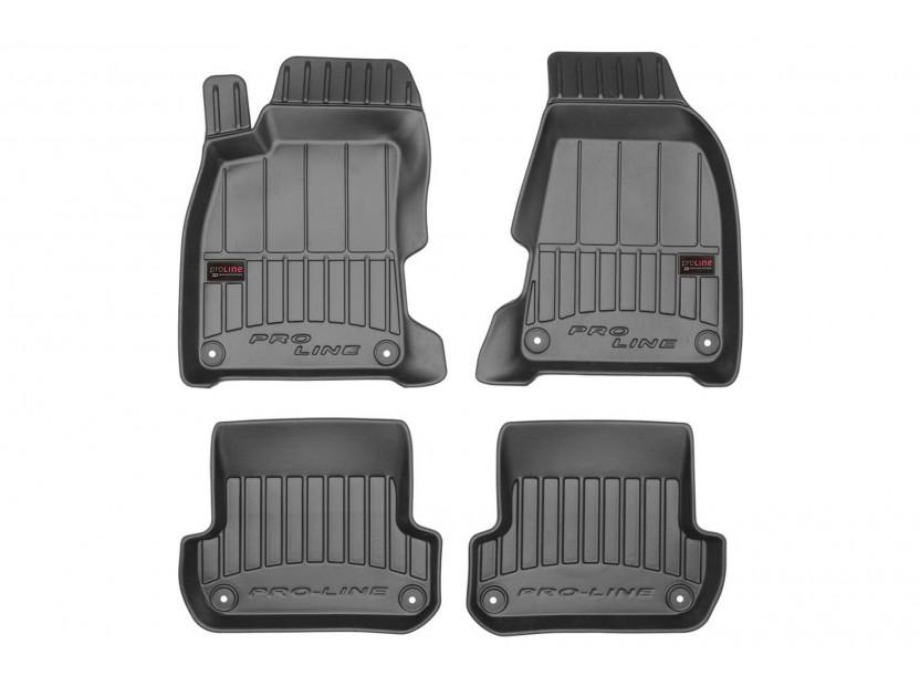 3D гумени стелки Frogum за Audi A4 B6 2000-2004, 4 части, черни