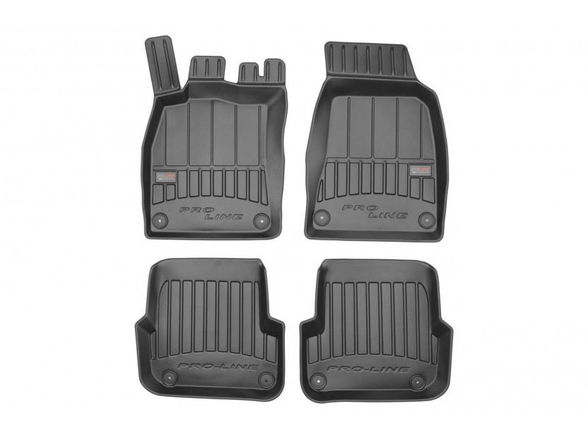 3D гумени стелки Frogum за Audi A6 C6 2006-2011, 4 части, черни