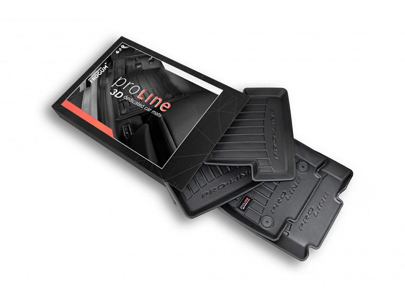 3D гумени стелки Frogum за Nissan Juke 2010-2019, 4 части, черни