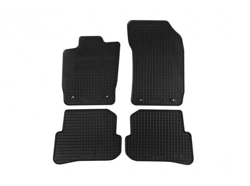 Гумени стелки Petex за Audi A1 2010 =>/Audi A1 Sportback 2011 => 4 части черни (B014)