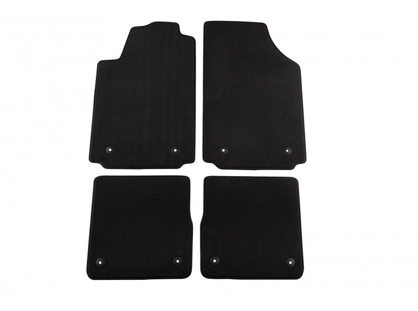 Мокетени стелки Petex за Audi A2 2000-2005 4 части черни (B018) Style материя