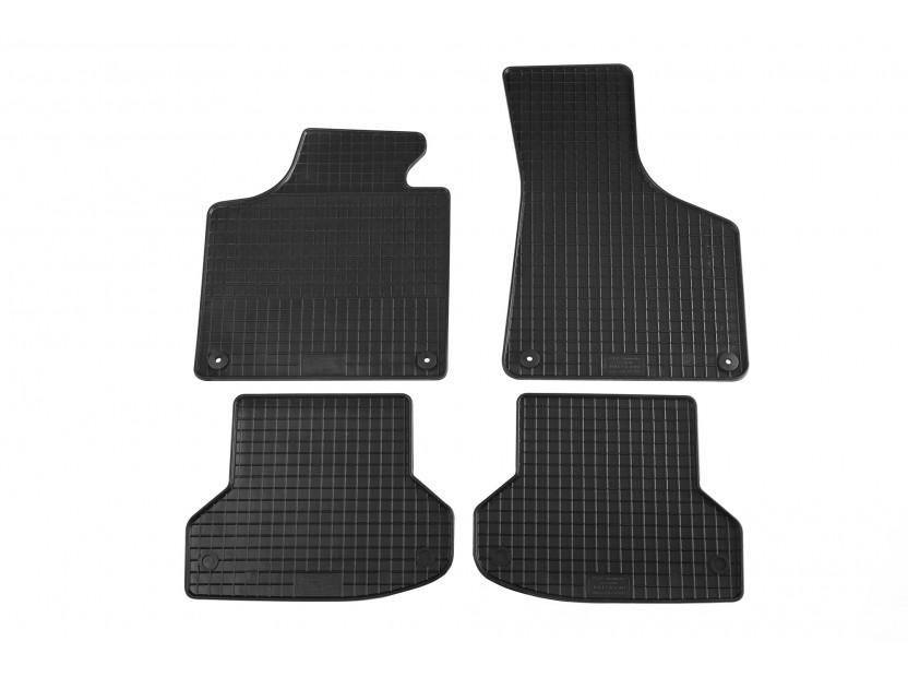 Гумени стелки Petex съвместими с Audi A3 3 врати, Sportback, S3 2003-2012, A3 кабрио 2008-2014, 4 части, черни, захват B014