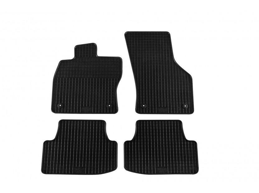 Гумени стелки Petex съвместими с Audi A3 седан 2013-2016, Sportback 2013-2020, 4 части, черни, захват B014