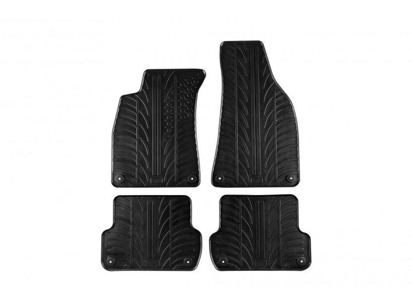 Гумени стелки Gledring за Audi A4 2001-2006/ Seat Exeo 2008-2013 4 части черни