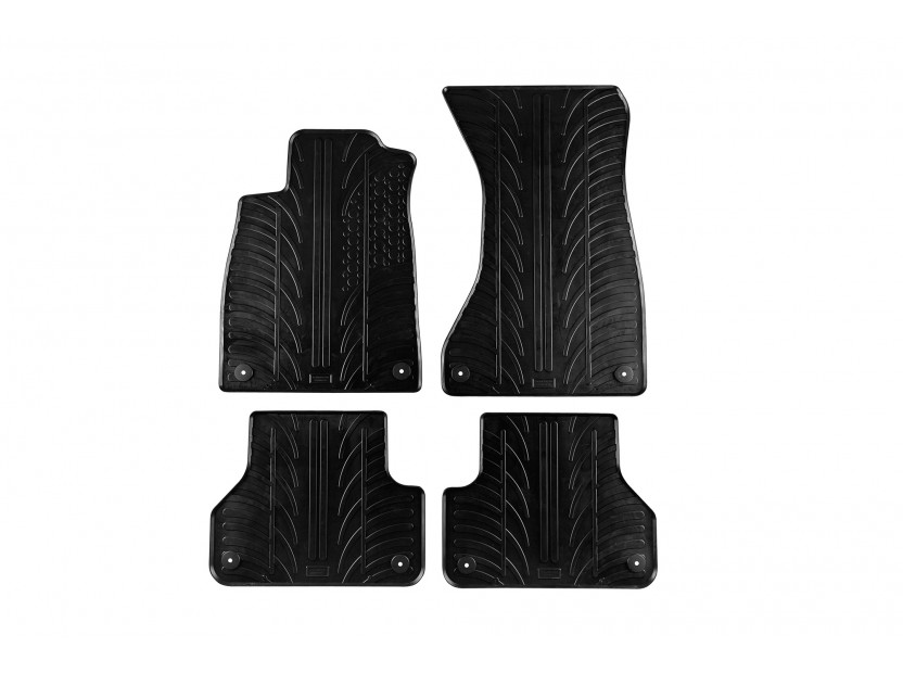 Гумени стелки Gledring за Audi A4 след 11.2015 година 4 части черни
