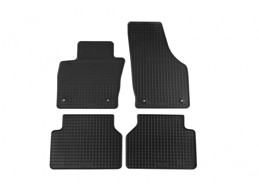 Гумени стелки Petex съвместими с Audi Q3 2011-2018, 4 части, черни, захват B014