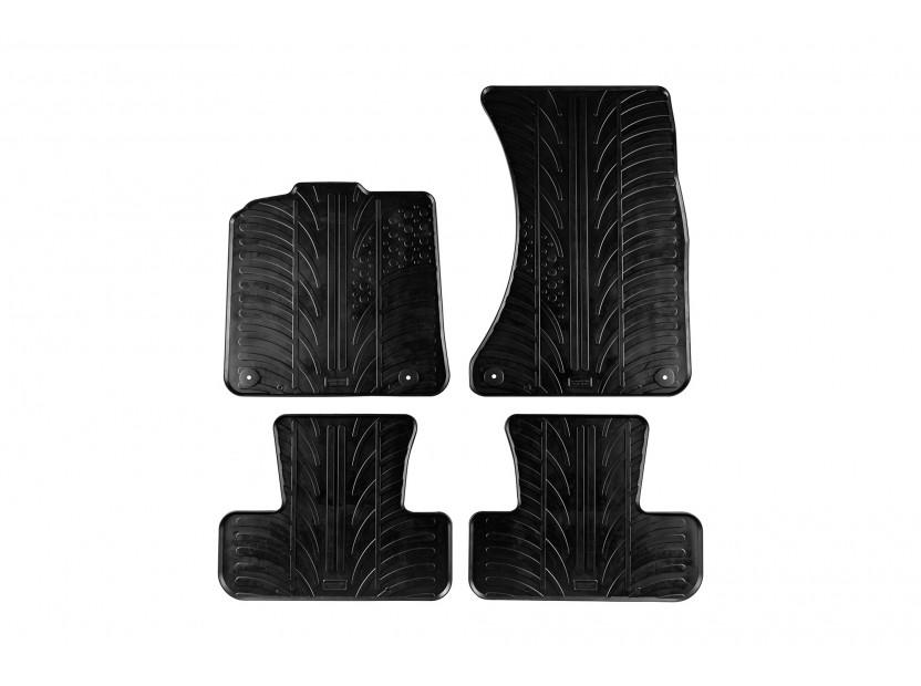 Гумени стелки Gledring за Audi Q5 след 2008 година 4 части черни