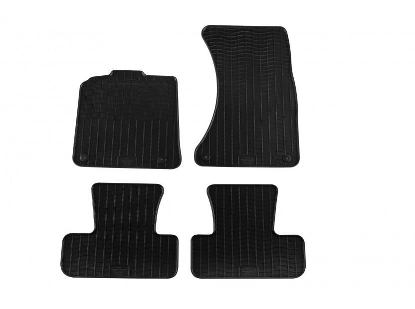 Гумени стелки Petex съвместими с Audi Q5 2008-2016, 4 части, черни захват B014