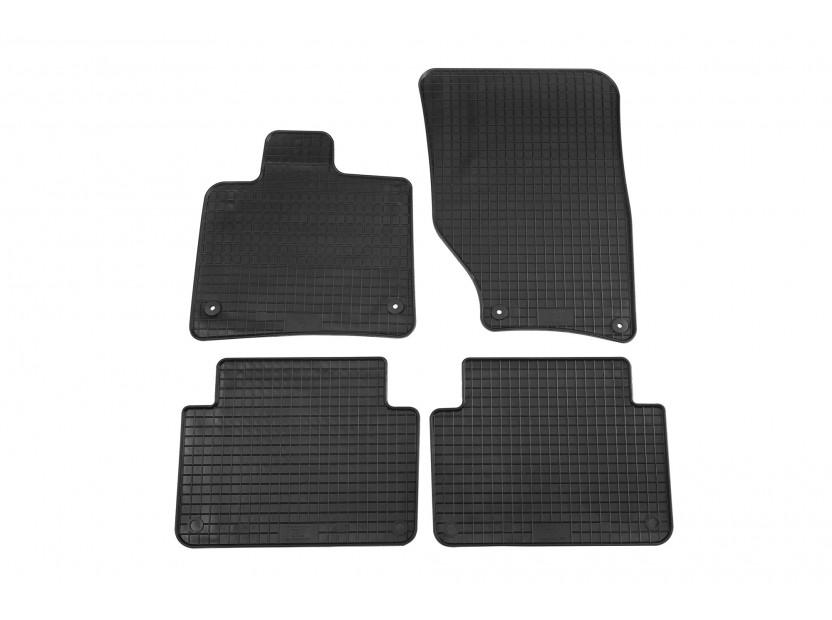 Гумени стелки Petex съвместими с Audi Q7 2006-2015, 4 части, черни, захват B014
