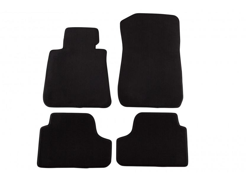 Мокетни стелки Petex съвместими с BMW серия 3 E93 кабрио 2007-2014, 4 части, черни, материя Style, захват B172
