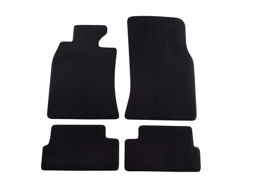 Мокетени стелки Petex за BMW Mini One/Mini Cooper 11/2006-2014 4 части черни (KL01) Style материя