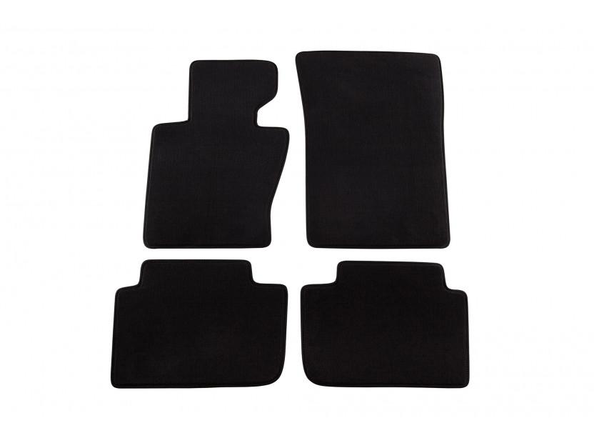 Мокетни стелки Petex съвместими с BMW X3 E83 2004-2010, 4 части, черни, материя Style, захват B184