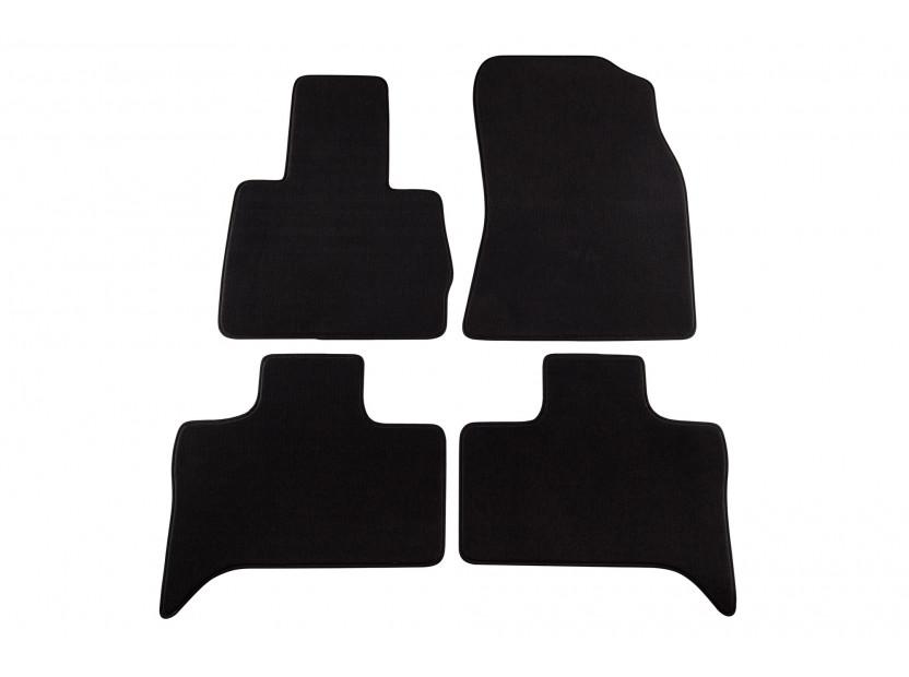 Мокетени стелки Petex за BMW серия X5 E53 06/2000-02/2007 година 4 части черни (B204) Style материя