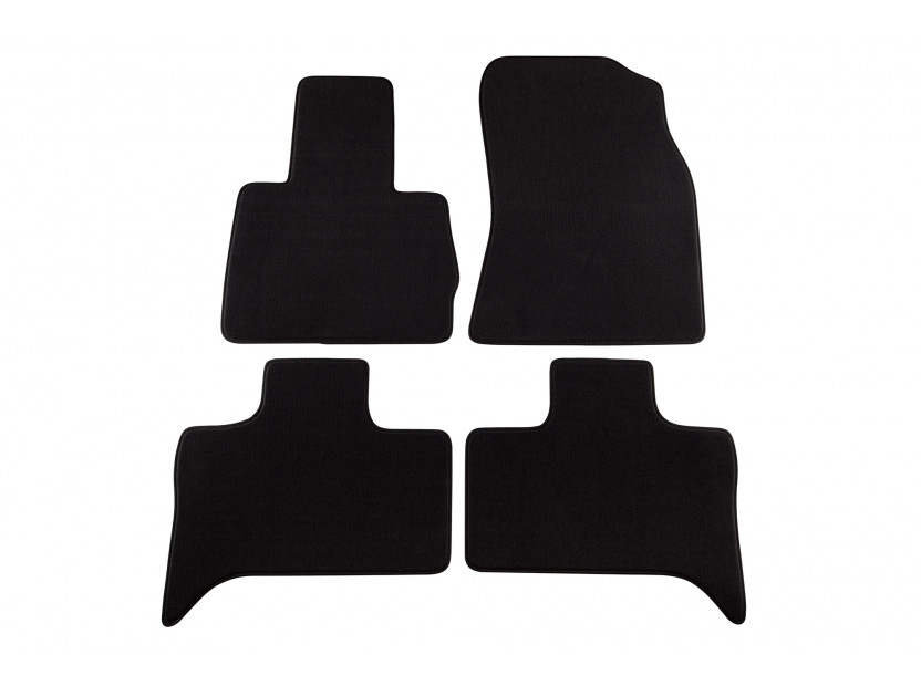 Мокетни стелки Petex съвместими с BMW X5 E53 2000-2007, 4 части, черни, материя Style, захват B204