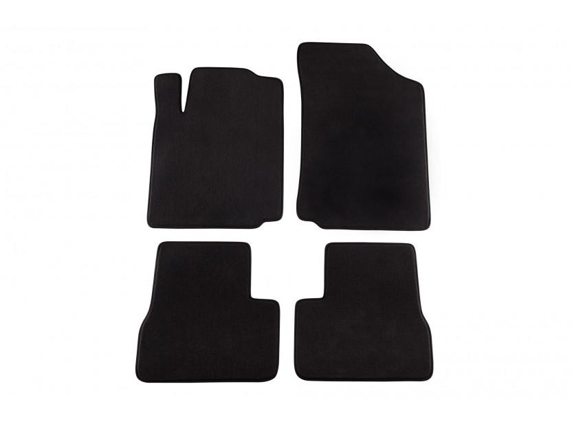 Мокетни стелки Petex съвместими със Citroen C3 2002-2009, 4 части, черни, материя Style, захват KL03