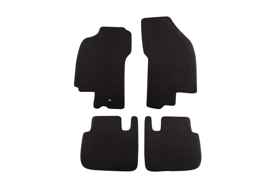 Мокетни стелки Petex съвместими с Fiat Bravo, Brava 1995-2007, 4 части, черни, материя Style, захват B001