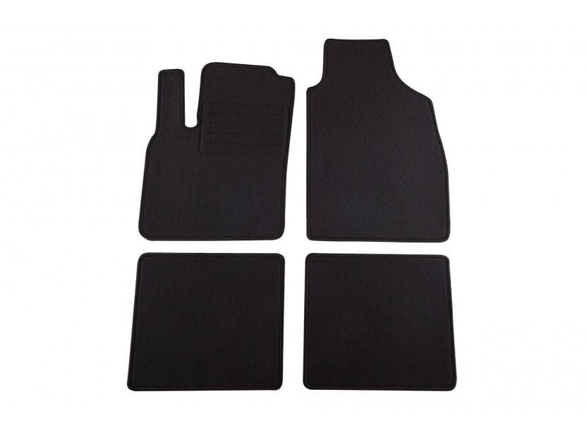 Мокетени стелки Petex за Fiat Panda 08/2003-01/2012/Panda Класик 02/2012 => 4 части черни (KL02) Rex материя