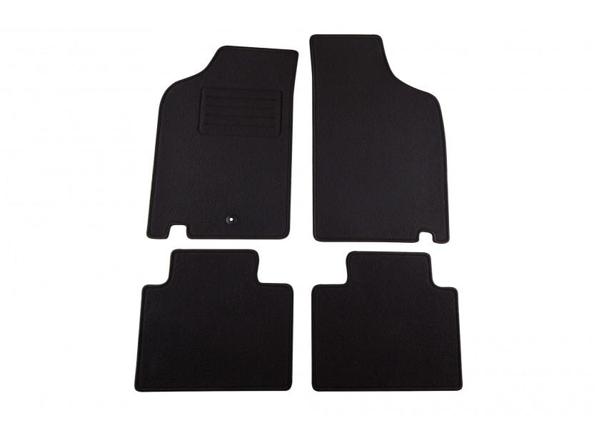 Мокетни стелки Petex за Fiat Punto 1993-1999, 4 части, черни, материя Rex, захват B001