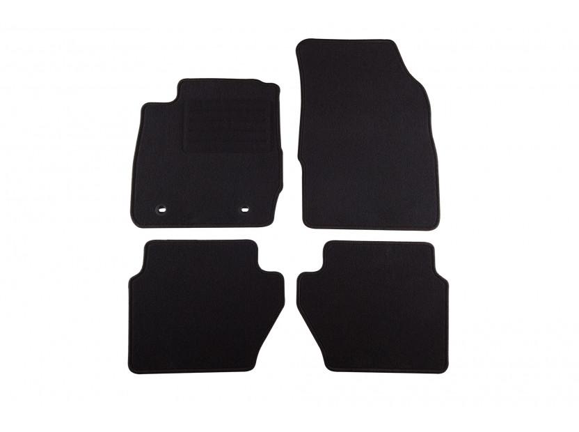 Мокетни стелки Petex съвместими с Ford Fiesta 2008-2011, 4 части, черни, материя Rex, захват B022U