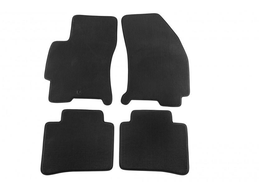 Мокетни стелки Petex съвместими с Ford Mondeo 2000-2007, 4 части, черни, материя Style, захват B001