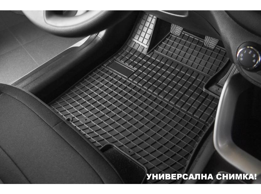 Гумени стелки Frogum съвместими с Toyota Yaris 2011-2019, 4 части, черни 2