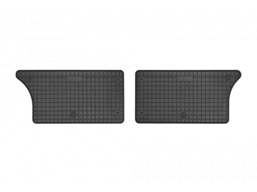 Гумени стелки Frogum за Ford Galaxy 1995-2006, Seat Alhambra, VW Sharan 1995-2010 за 3-ти ред седалки, 4 части черни