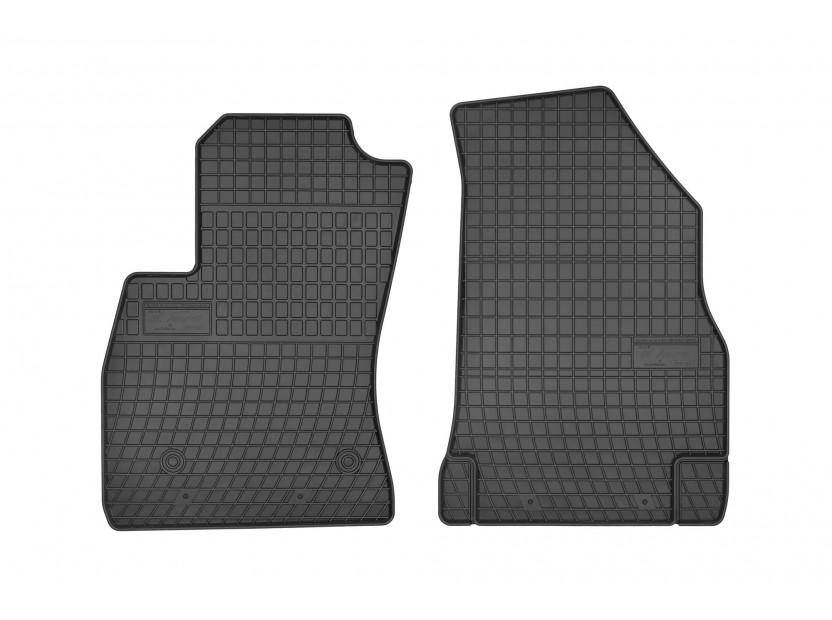 Гумени стелки Frogum за Fiat Doblo след 2008 година, Opel Combo D след 2011 година, с 2 места, 2 части черни