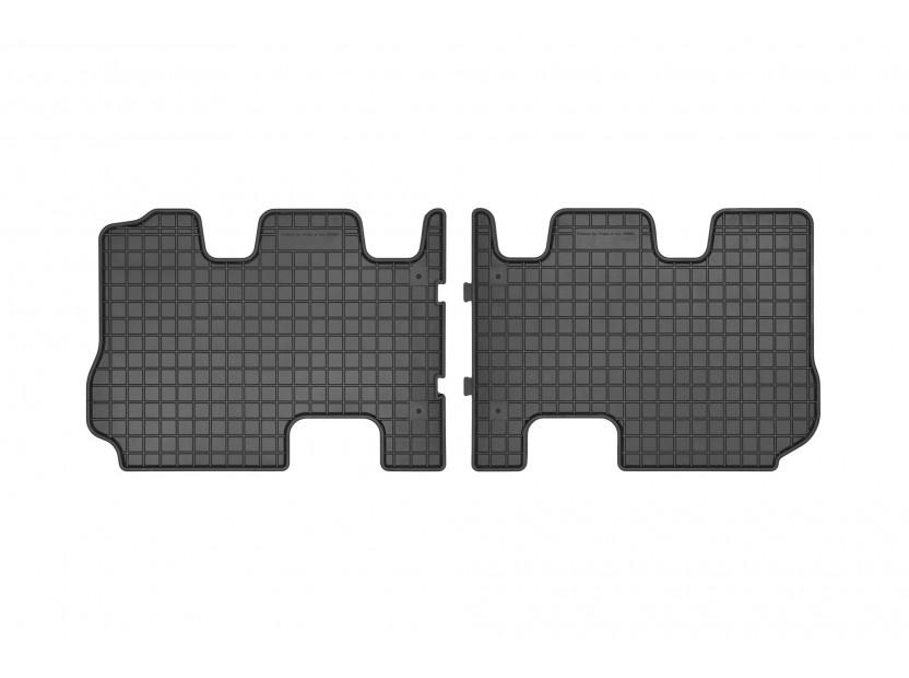Гумени стелки Frogum за Hyundai Santa Fe, Kia Sorento след 2015 година за 3-ти ред седалки, 2 части черни