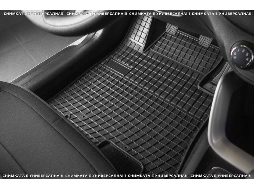 Гумени стелки Frogum за Renault Kangoo след 2008 година с 2 места, Mercedes Citan след 2012 година, 2 части черни