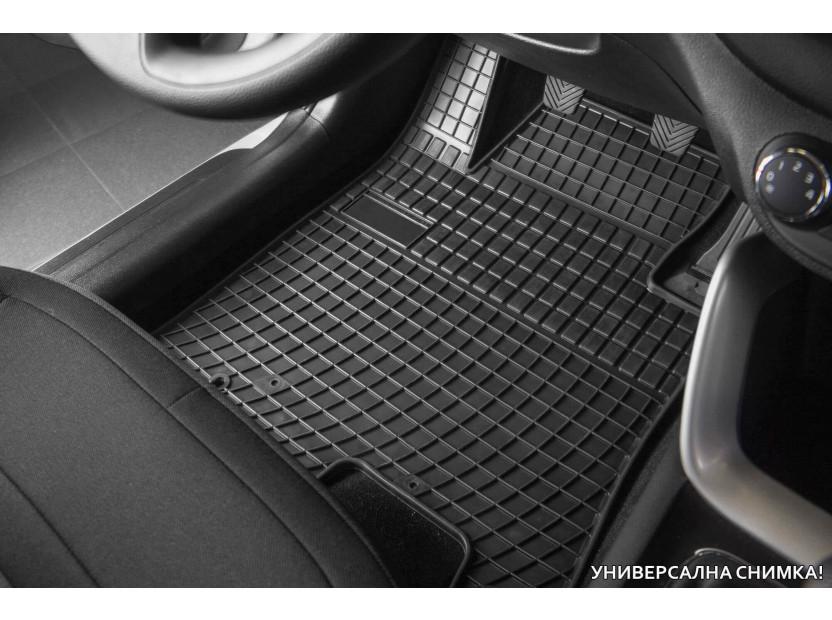 Гумени стелки Frogum за Kia Carens след 2013 година за 3-ти ред седалки, 2 части черни 2