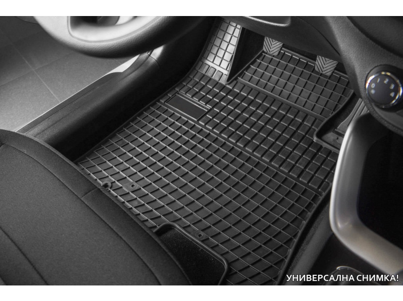 Гумени стелки Frogum за VW Bora, Golf IV, New Beetle, Seat Leon, Toledo 1999-2005, Skoda Octavia, 4 части черни 2