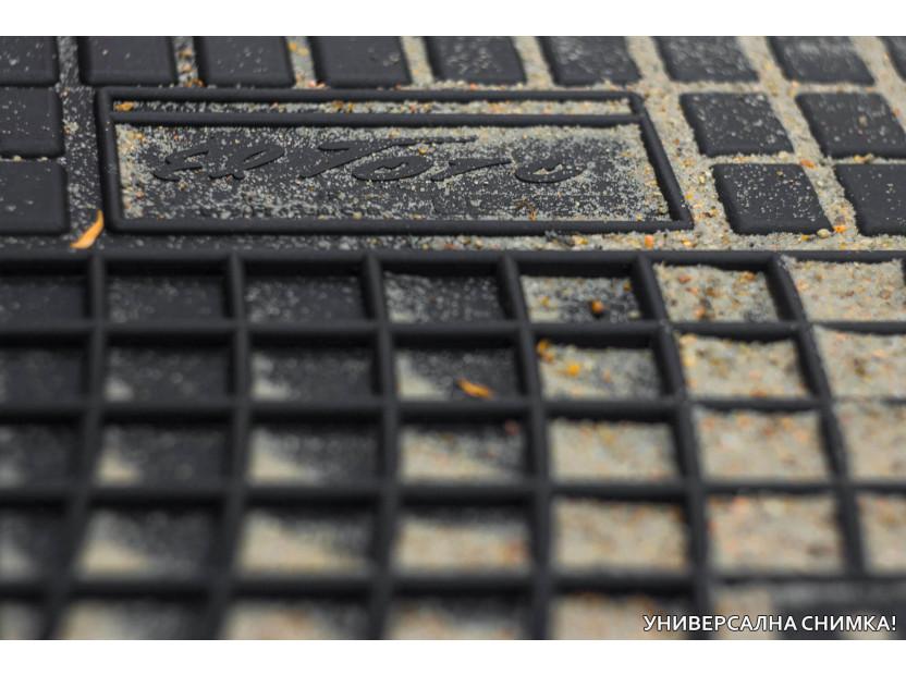 Гумени стелки Frogum за Kia Carens след 2013 година за 3-ти ред седалки, 2 части черни 3
