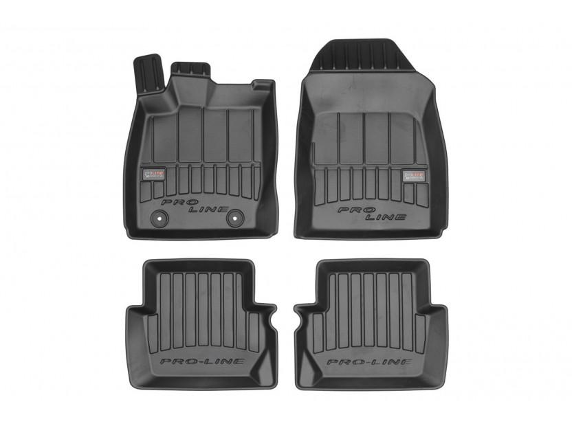 3D гумени стелки Frogum за Ford Fiesta Mk VI 2008-2017, 4 части, черни