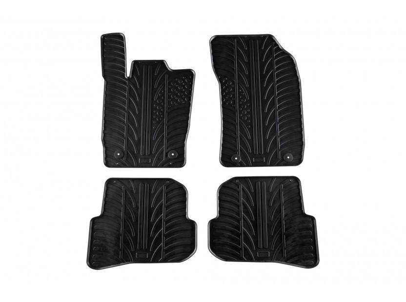 Гумени стелки Gledring за Audi A1 2010-2018 4 части черни