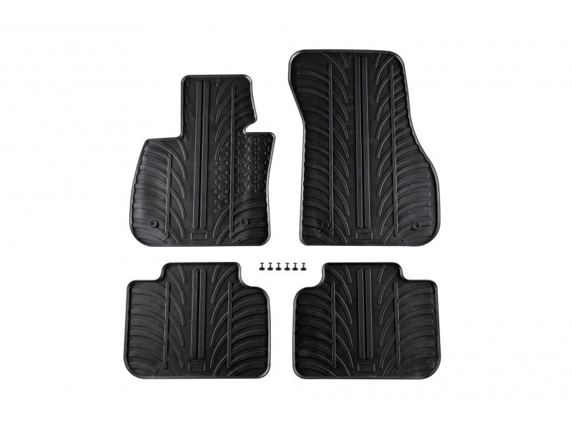 Гумени стелки Gledring за BMW X1 F48 след 06.2015 година 4 части черни