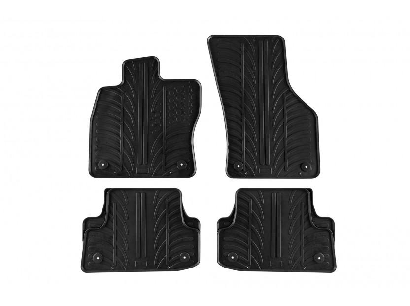 Гумени стелки Gledring за Audi A3 Sportback/седан след 2012 година 4 части черни