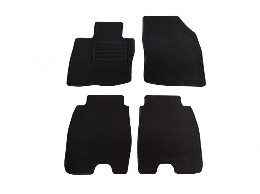 Мокетни стелки Petex съвместими с Honda Civic 2006-2012, 5 врати с големи задни стелки, 4 части, черни, материя Rex, захват KL01