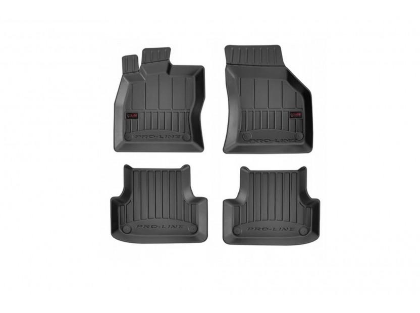3D гумени стелки Frogum за Toyota Corolla XII след 2018 година, 4 части, черни