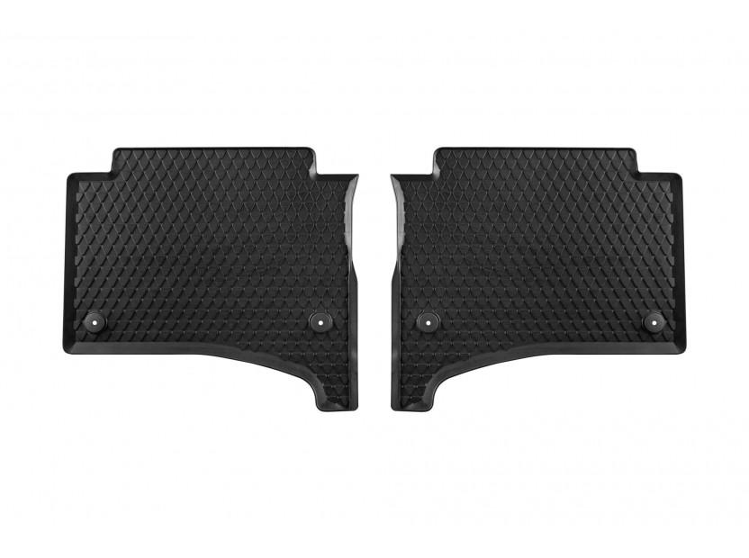 Задни гумени стелки за VW Touareg 2003-2011 2 части черни