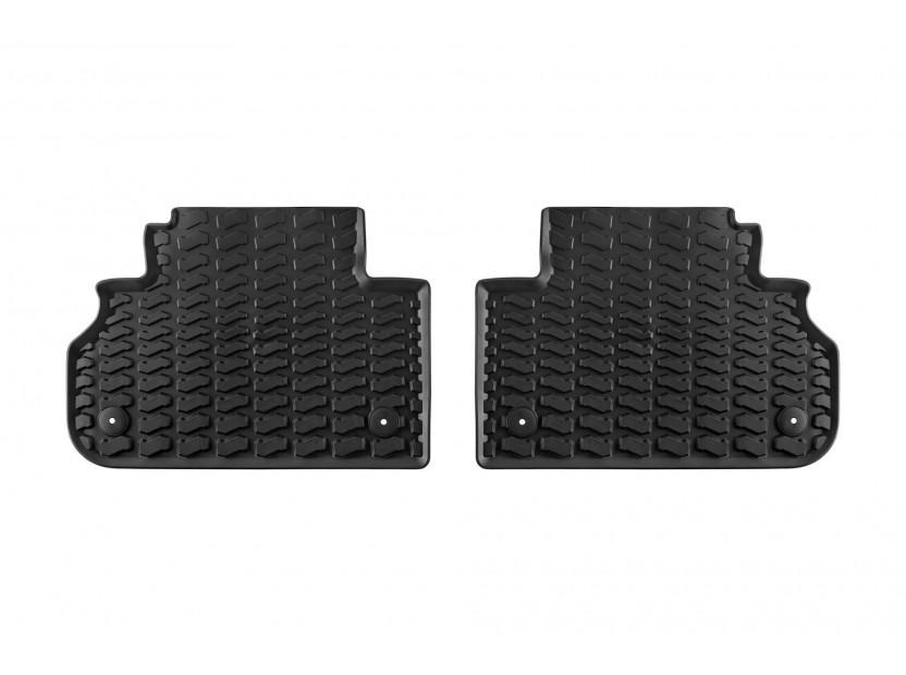 Задни гумени стелки за Audi Q5 след 2016 година 2 части черни