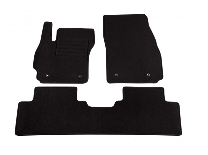 Мокетени стелки Petex за Mazda 5 5-7 места 10/2010 => 3 части черни (B054) Rex материя
